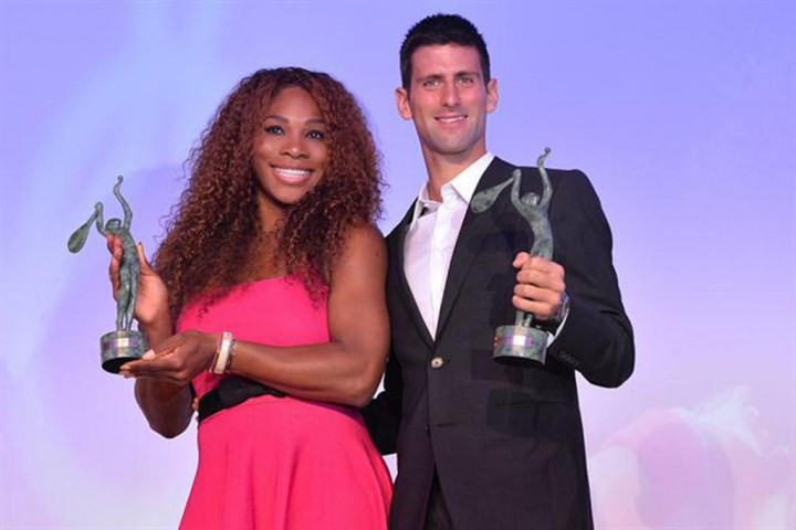 Djokovic y Serena Williams
