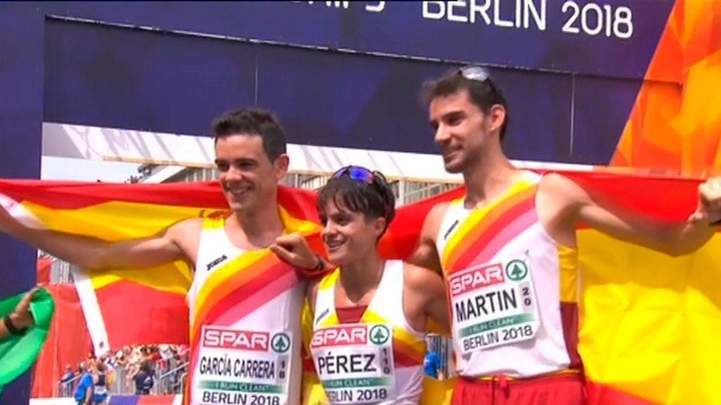 Medallistas españoles 20 kms marcha