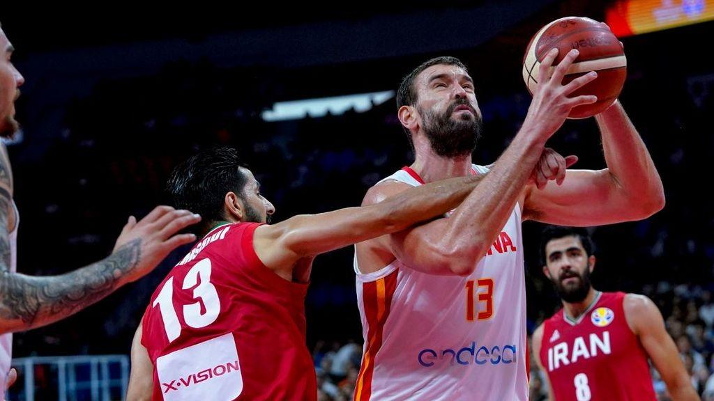 Falta de un jugador iraní a Marc Gasol