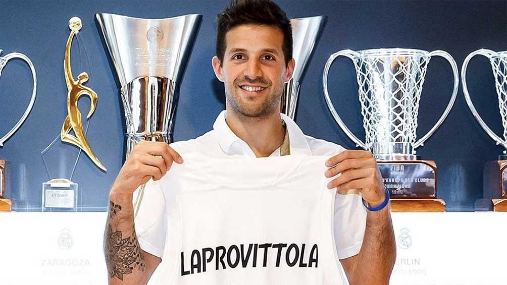 Presentación Laprovittola con Real Madrid