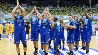 Burgos celebra su victoria contra Gran Canaria