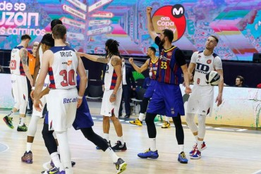 13/02/2021 Mirotic celebra la victoria ante el BaskoniaDEPORTESACB PHOTO
